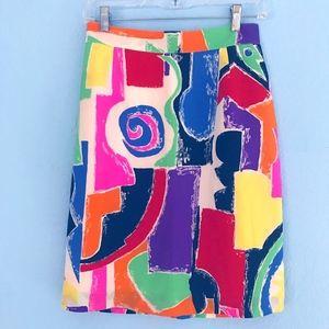 Carla Carini silk pencil skirt. Made in Italy.